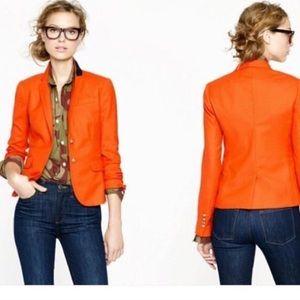 J.Crew orange schoolboy blazer